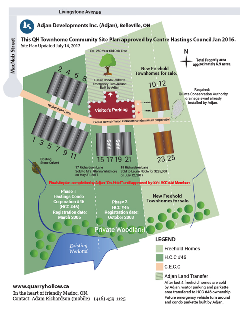 See the New Site Plan.